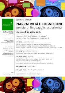 presentazione narratività e cognizione